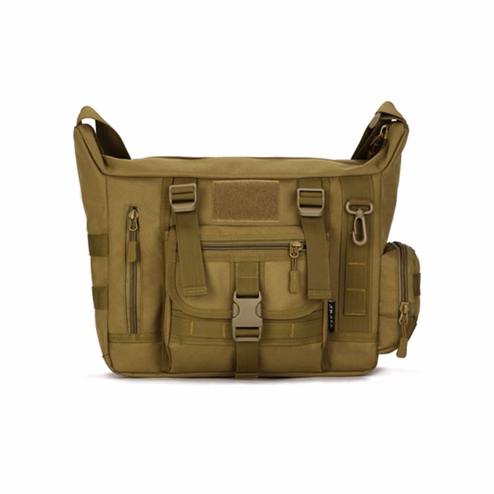 Utomhus Militär Tactics Väska ACU CP Camouflage Army Svart Mäns Väska Camp Mountaineer Travel Duffel Messenger Bag 046