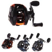 (Izquierda y Derecha) PAF103 10 BB Rodamientos de Bolas Mano Bastidor de Cebo de la Pesca del Bastidor de Cebo Carrete de la Pesca de Alta Velocidad 6.3: 1 Azul y Negro