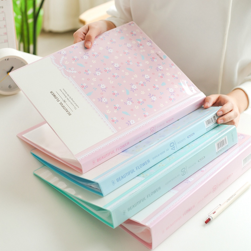80 Pages Waterproof Multilayer Insert A4 File Folder Bag Document Organizer Bag Paper Storage Case Music Score Clip Pamphlet Box