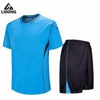 LIDONG New Kids Football Kits Boys Soccer Sets Jersey Uniforms Futbol Training Suits Breathable Polyester Short