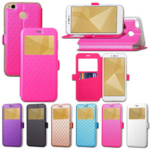 hot deal buy xiaomi redmi 4x hongmi 4x case view vindow wallet flip leather case cover for xiaomi redmi 4x redmi4x phone bags shell cover