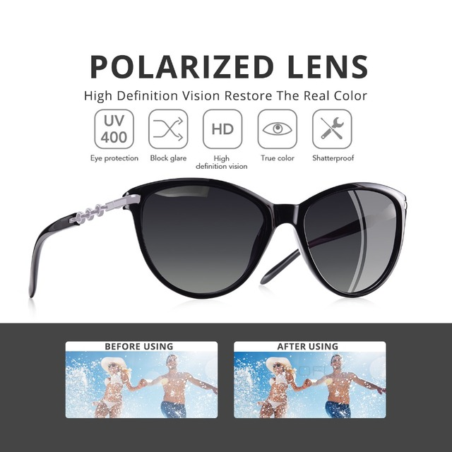 Cat Eye Women Polarized Sunglasses