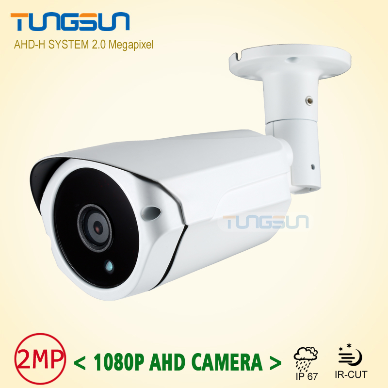 New Arrival 2MP HD 1080P AHD Camera Security CCTV White Metal Bullet Video Surveillance Outdoor Waterproof 3*Array infrared wistino cctv camera metal housing outdoor use waterproof bullet casing for ip camera hot sale white color cover case