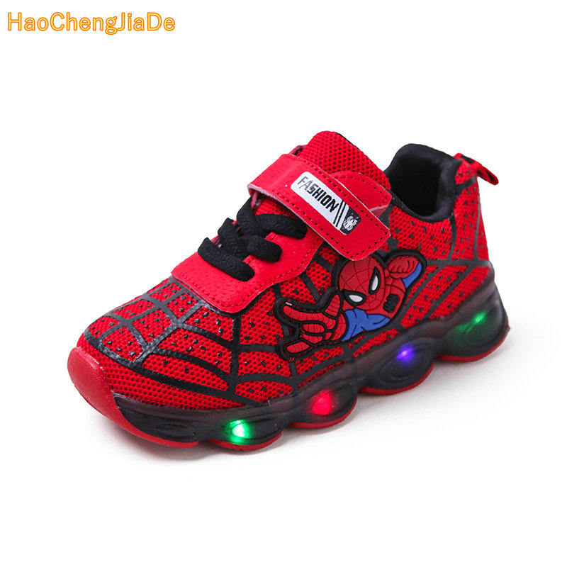 Boys Sneaker Girls Spiderman Kids Led Shoes With Lights Sneaker 2019 Spring Autumn Shoes Children Toddler Baby Girl ShoesBoys Sneaker Girls Spiderman Kids Led Shoes With Lights Sneaker 2019 Spring Autumn Shoes Children Toddler Baby Girl Shoes