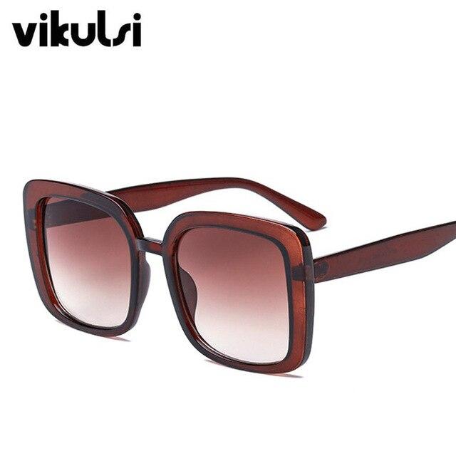 2018 Square Women's Sunglasses Fashion Sunglasses Luxury Brand Glasses Designer Shades Sun Glasses Women Men female oculos UV400 5