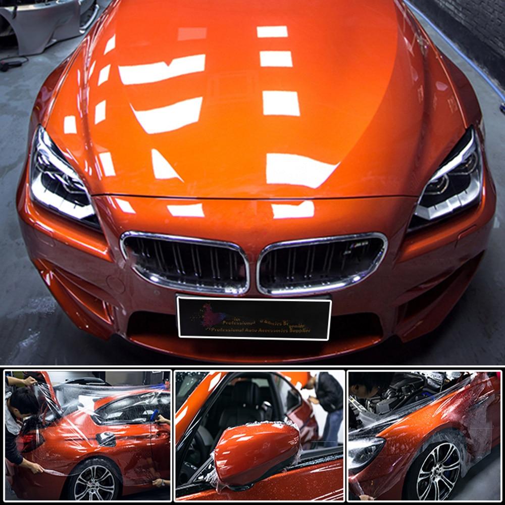 SUNICE 50cm x 500cm autocollants de voiture 100% transparence 3 couches PPF voiture peinture protéger Film voiture protéger Film