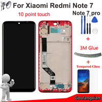 AAA Original LCD With Frame For Xiaomi Redmi Note 7 LCD Display Touch Screen Digitizer Assembly Replace For Redmi Note7 Pro LCD