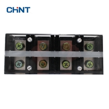 CHNT TC-2004 High Electric Current Connection Terminal Row Connector Column Plate 200A 4P Copper Sheet