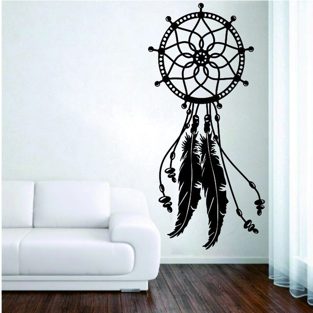 Newest Home Decor Dreamcatcher Feather Wall Sticker Creative Special Art Wall  Mural Vinyl Home Room Decoration