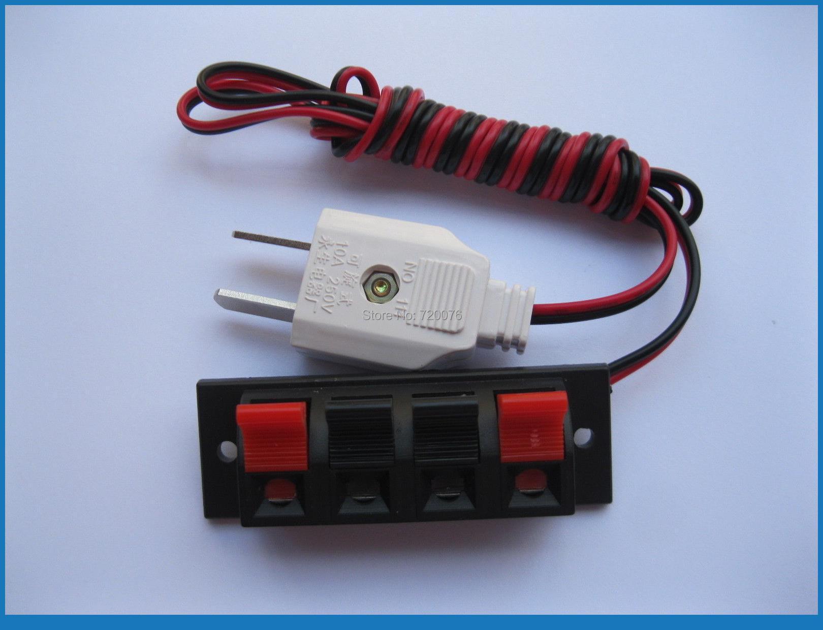 20 pcs Speaker Terminal Board Spring Loaded 4-Way With Adapter Plug 1.5m коляска трость jetem twist violet