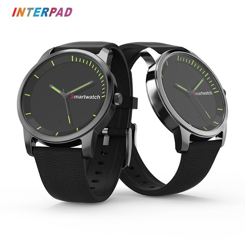 Interpad Smart Watch Sleep Monitor Fitness Tracker Quartz Watches Bluetooth 4.0 Smartwatch Long Standby For Men Women Clock