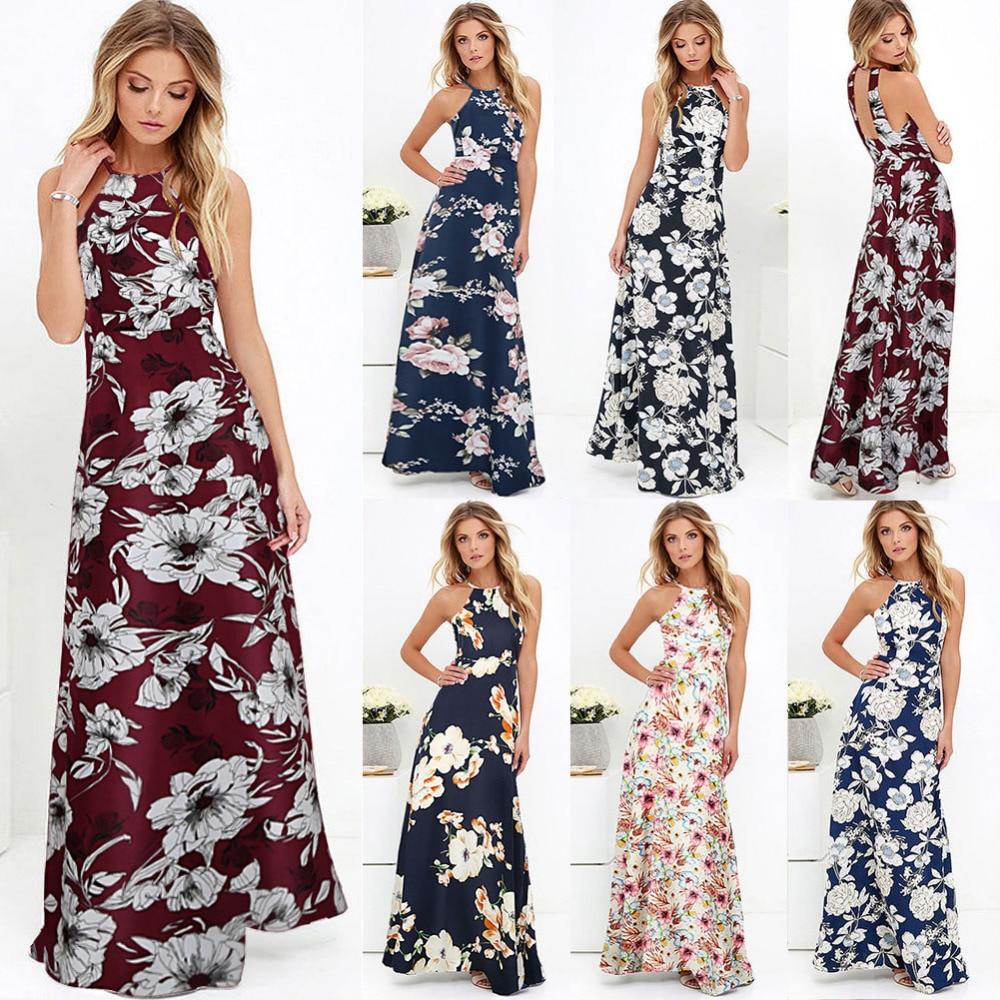9851513f62b Boho Floral Print Sleeveless Summer Dress - Esprit Trendz