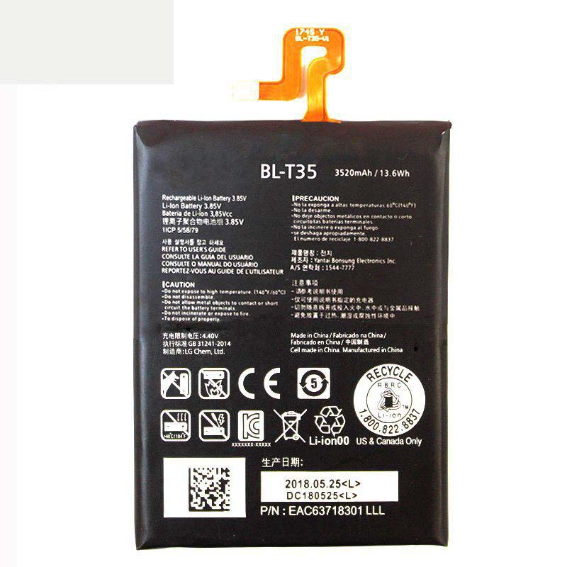 Original High Capacity BL T35 Phone Battery for LG Google2 Pixel 2 XL 3520mAh in Mobile Phone Batteries from Cellphones Telecommunications