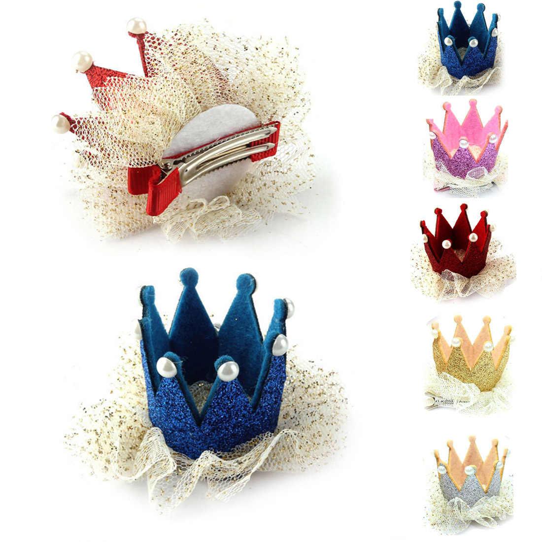 Современные украшения Аксессуары Детская шпилька принцесса Корона с жемчугом принцесса зажим для волос для детей аксессуары для вечеринок головной убор