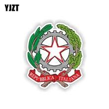 Yjzt 9.8 cm * 11.5 cm acessórios do carro repubblica italiana brasão de braços decalque carro adesivo 6-2146