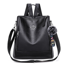 Backpack 2018 Women Female Design School Backpack For Teenage Girls  backpack female Mini Schoolbag Solid Color Bookbag leather