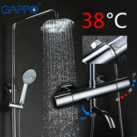 GAPPO Термостатический смеситель для душа с душем ванной кран Водопад настенное крепление термостатический смеситель смесители для душа кра