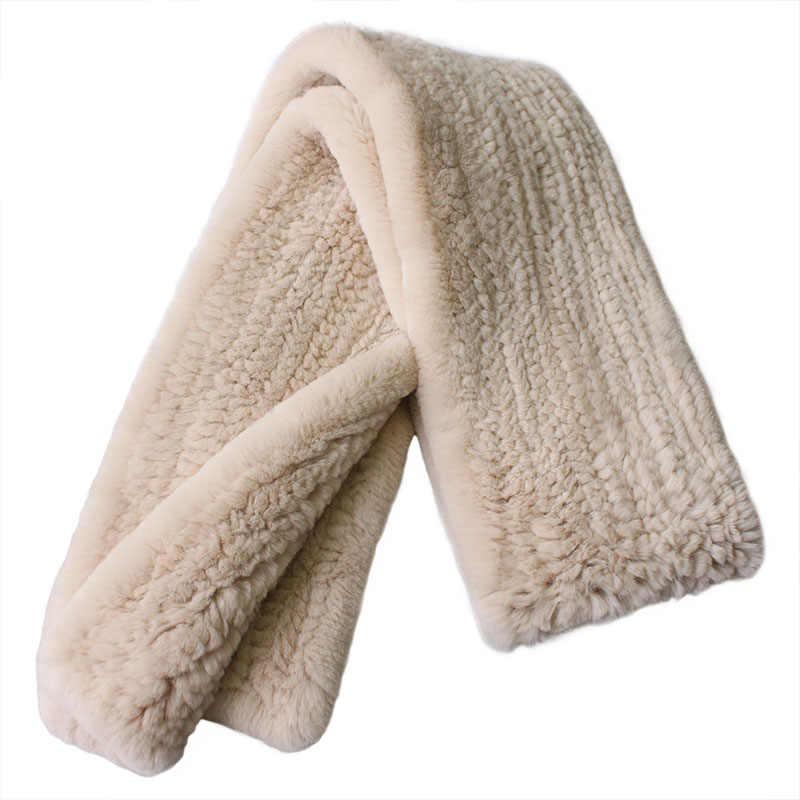 180 centimetri Lunga sciarpa Reale Del Coniglio di Rex Sciarpe di Pelliccia femminile 2019 di inverno della sciarpa della signora di 100% naturale sciarpe di Pelliccia di Coniglio Russo più il formato S72