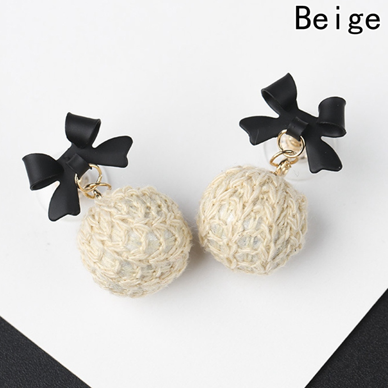 2018 Fashion New Korean Style Round Circle Wooden Earrings For Women Fashion Handmade Braided Ball Earring Jewelry Gifts