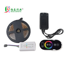 RGB Led Strip Light 5M 10M SMD2835 Flexible Tape Rope 15M 20M Ribbon IP65+RF controller+DC 12V Adapter kit