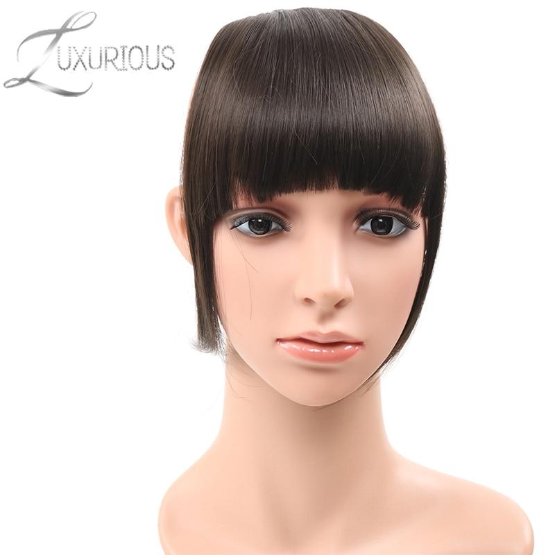 Yelo Malaysische Mode Menschliches Clip Haar Extensions Kurze Vordere Pony Fransen Remy Haar 6 Farbe Stil Ein Stück Freies Verschiffen Haarteile