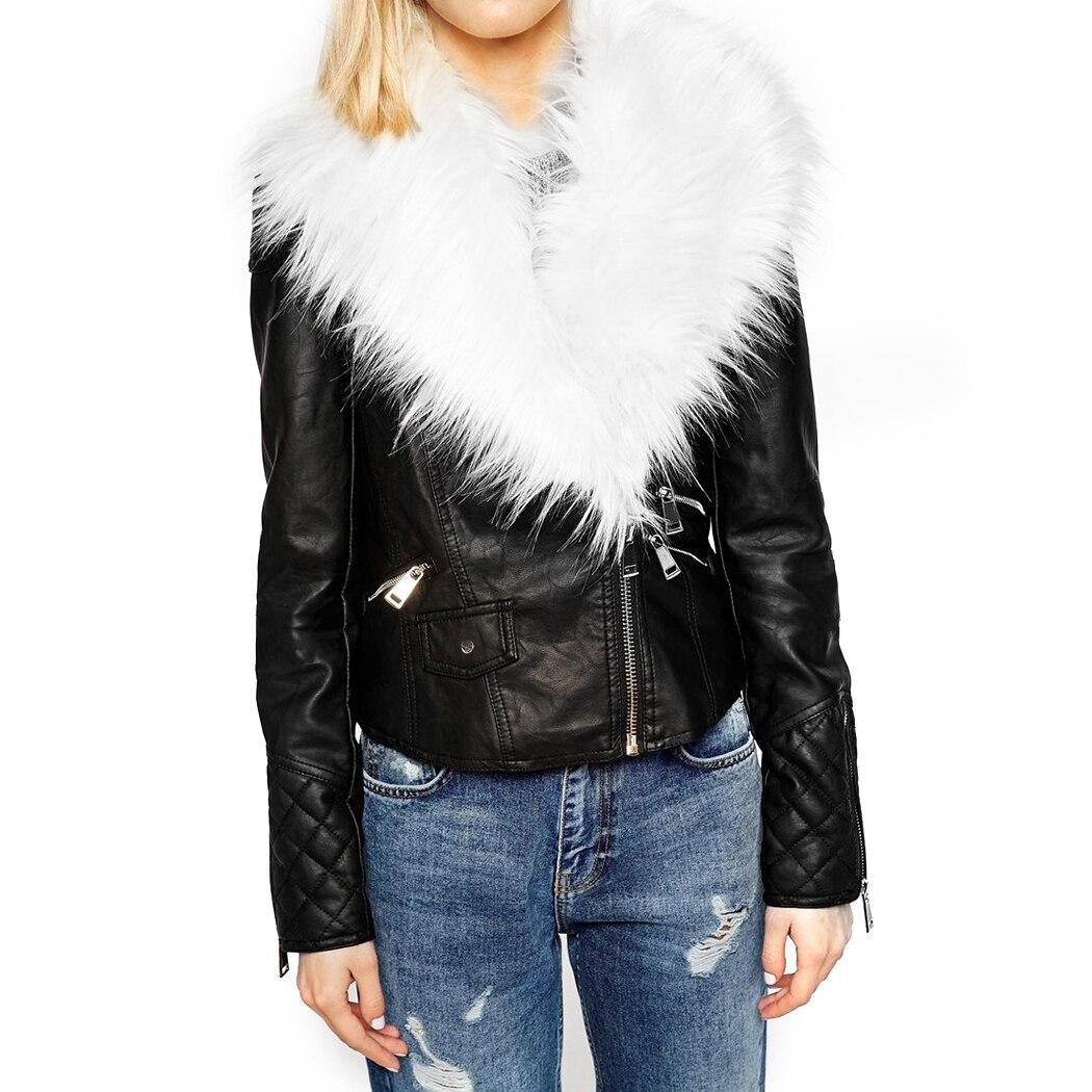 Frauen Faux Pelz Kragen Warm Zipper Bomber Jacken Frauen Herbst Solide Langarm Casual Tops Zipper Jacke Outwear Lose Tops a4