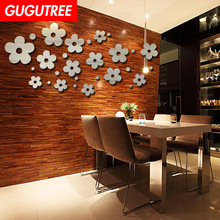 Decorate Diy 3D flower art wall sticker decoration Decals characters mural painting Removable Decor Wallpaper LF-8