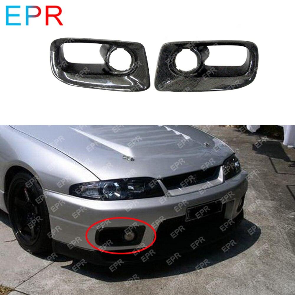 ل نيسان سكايلاين R33 ألياف الكربون الجبهة الوفير أنابيب الهواء الجسم كيت سيارة ضبط جزء ل GTR R33 GTR الحدود الجبهة الوفير أنابيب الهواء