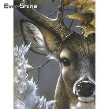 Evershine искусственная квадратная картина животные картины Набор для вышивки крестиком Алмазная мозаика распродажа бусин