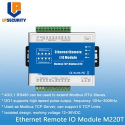Modbus TCP RTU Ethernet удаленный IO модуль веб-мониторинг в реальном времени 4 цифровых выхода + RJ45 + RS485 Поддержка ШИМ выход M220T