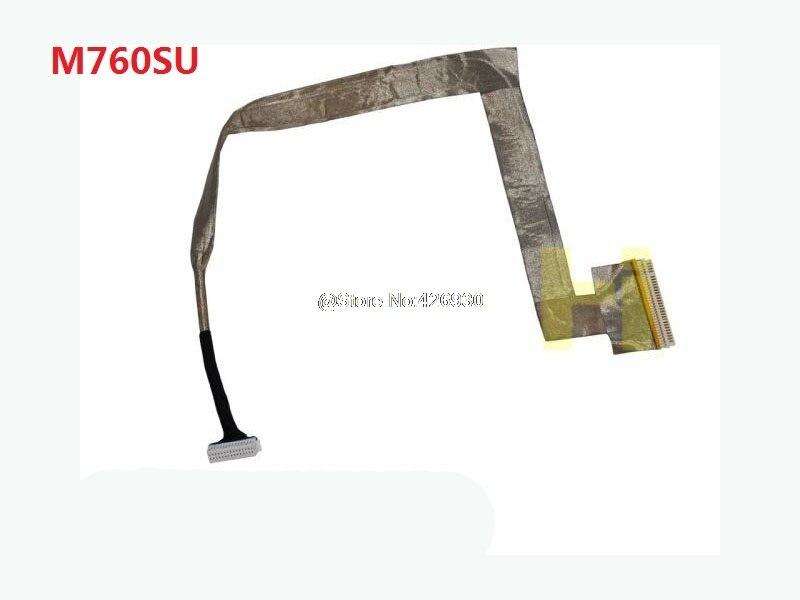 Laptop LCD Cable For CLEVO M765SU M760S 15.4 6-43-M76S1-011/W540EU 6-43-W5501-010-C 30PIN tp760 765 hz d7 0 1221a