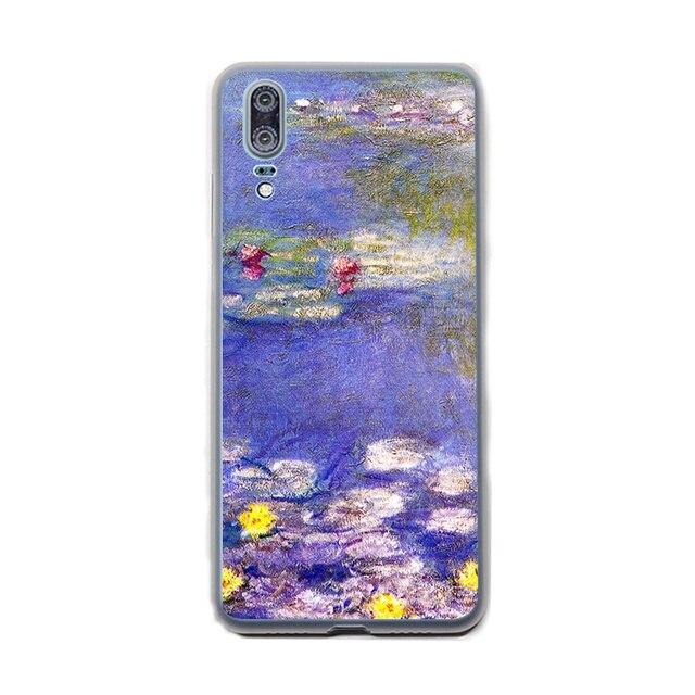 Sprawa dla Monet ogród lotosu wysokiej jakości wielu dla Huawei P30 P8 P9 P10 P20 Pro P inteligentne Lite Mini Plus pokrywa