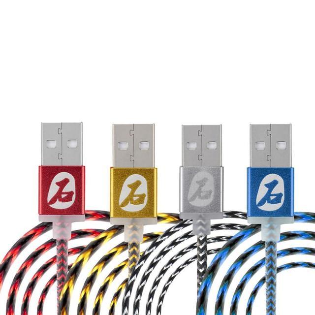 6 ШТ. Элегантный Жесткий Змеиной Кожи Micro USB 2.0 Заряжателя Sync Данным Зарядный Кабель Для Android