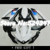 Bo For K8 08 09 10 A GSX R750 GSX R750 GSXR 750 Kit White Black GSXR750 K8 2008 2009 2010 Fairing
