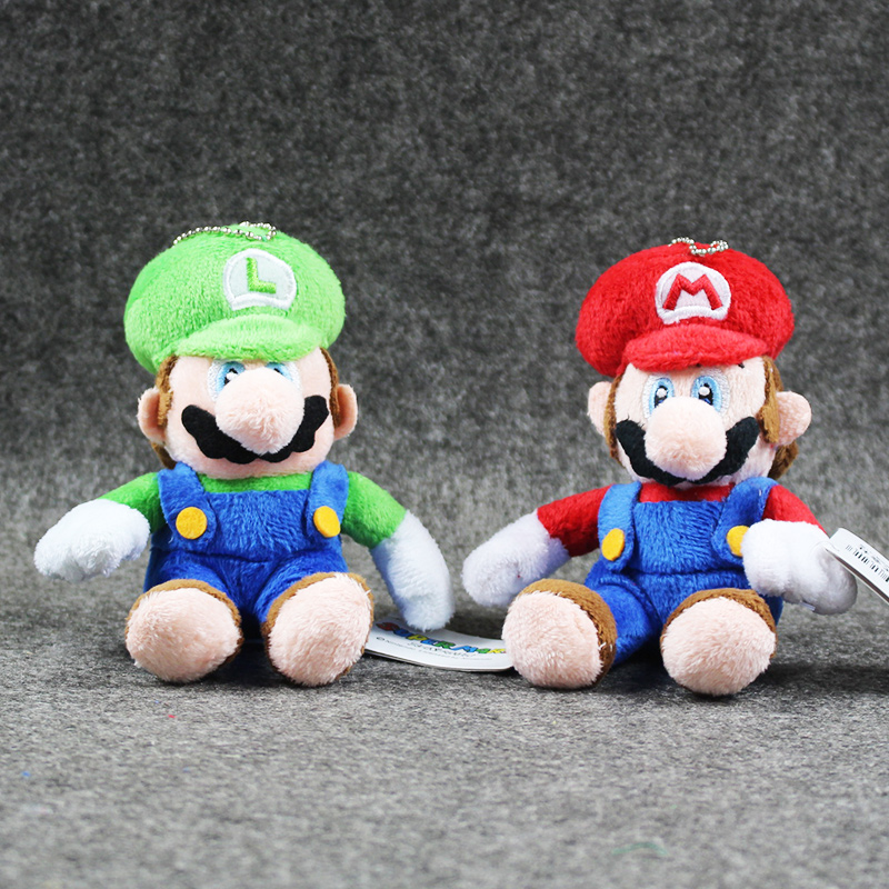 New arrival 20pcs lot 11cm Super Mario Bros Plush Toy Cute Mario Luigi Soft Stuffed pendant