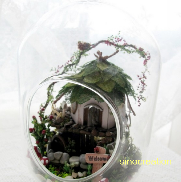 Novelty Glass Ball House DIY Jungle Elf House, Handmade Wooden DIY House Model Toy For Kids/Lovers/Friends Christimas Toy GiftNovelty Glass Ball House DIY Jungle Elf House, Handmade Wooden DIY House Model Toy For Kids/Lovers/Friends Christimas Toy Gift
