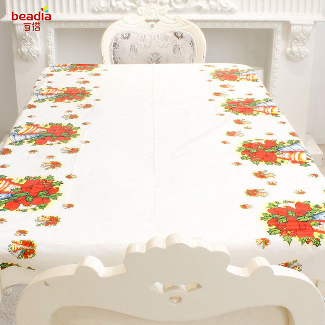 110x180cm Christmas Decoration Supplies For Home New Year Dining Table Cloth Xmax Party Chair Cover Ornament