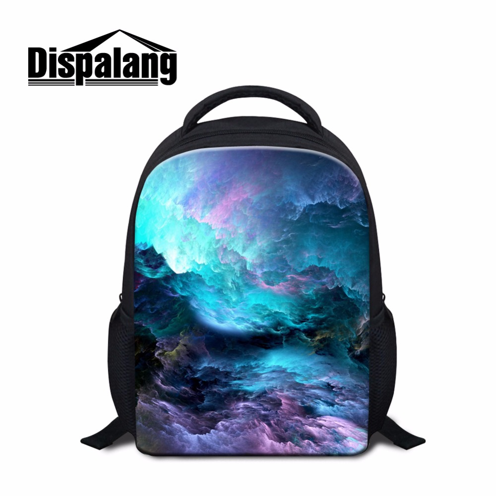 Personalized Kindergarten Backpack Galaxy Pritned Small Backpack for Kids Little Children Bookbags Girls Lightweight Back Pack
