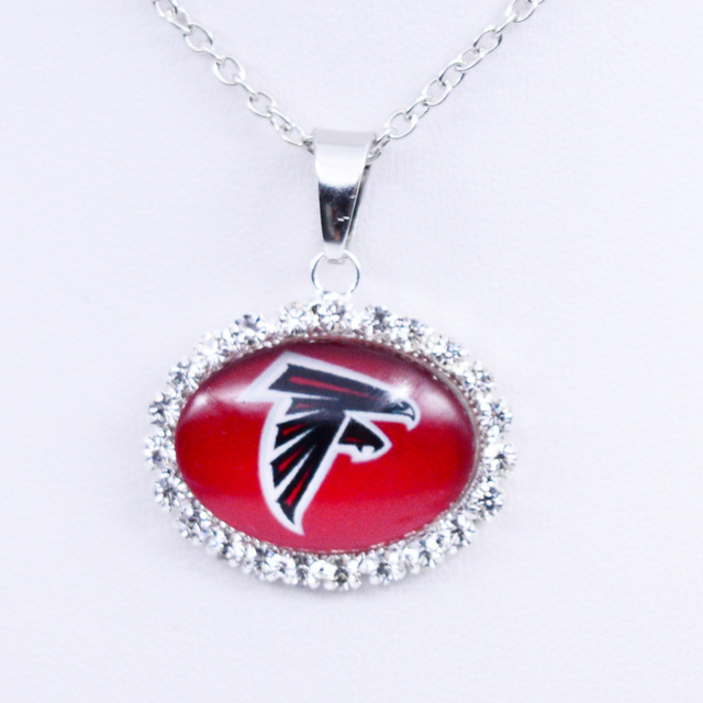 Necklace Pendant Atlanta Falcons Charm Pendant Football Jewelry for Women  Gifts Party Birthday Wholesale 8620a0ff1588