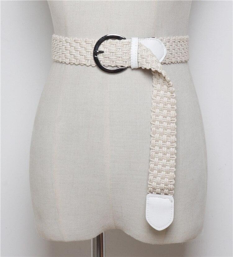 Korean Fashion Casual Stretch Woven Belt Women 39 s Unisex Canvas Elastic Belts for Women Jeans Elastique Modeling Belt ML117 in Women 39 s Belts from Apparel Accessories