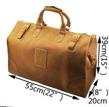 Hohe Qualität Mens Echte echtes rindsleder Große Reisetasche Reisetasche Gepäck Koffer Tragetaschen A8151