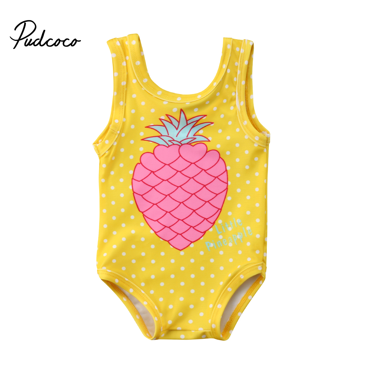 1-7Y Kid Baby Girls Pineapple Print Swimwear Toddler Swimsuit Beachwear Baby Girls Clothing Children Bathing Suit Summer