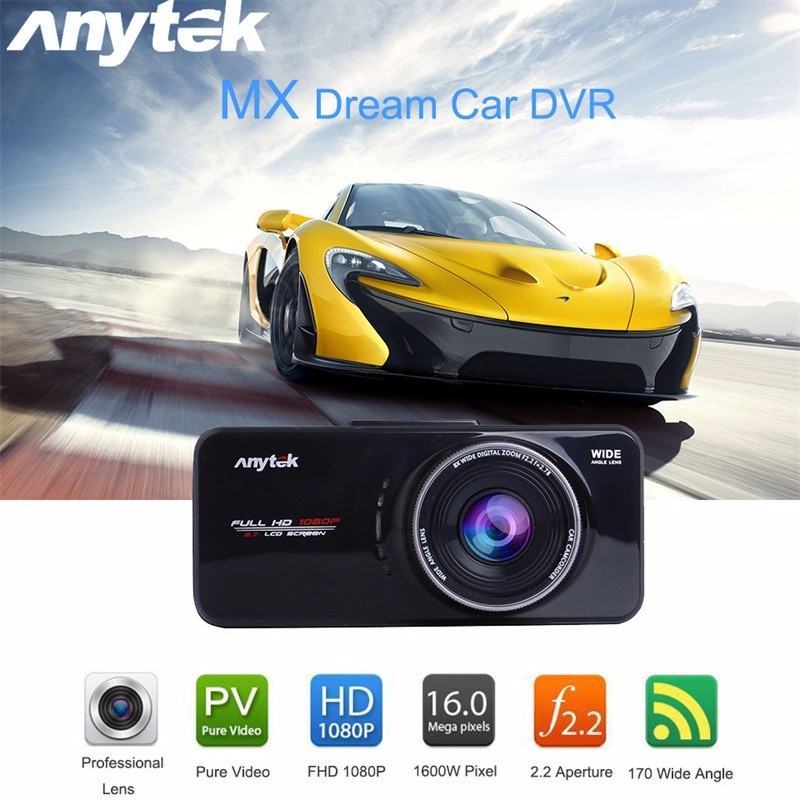 imágenes para ¡ Caliente! AT66A Anytek full HD 1080 P DVR Cámara Del Coche DVR Grabador Negro caja de Lente de 170 Grados Cena Visión Nocturna Dash Cam GPS Tracker