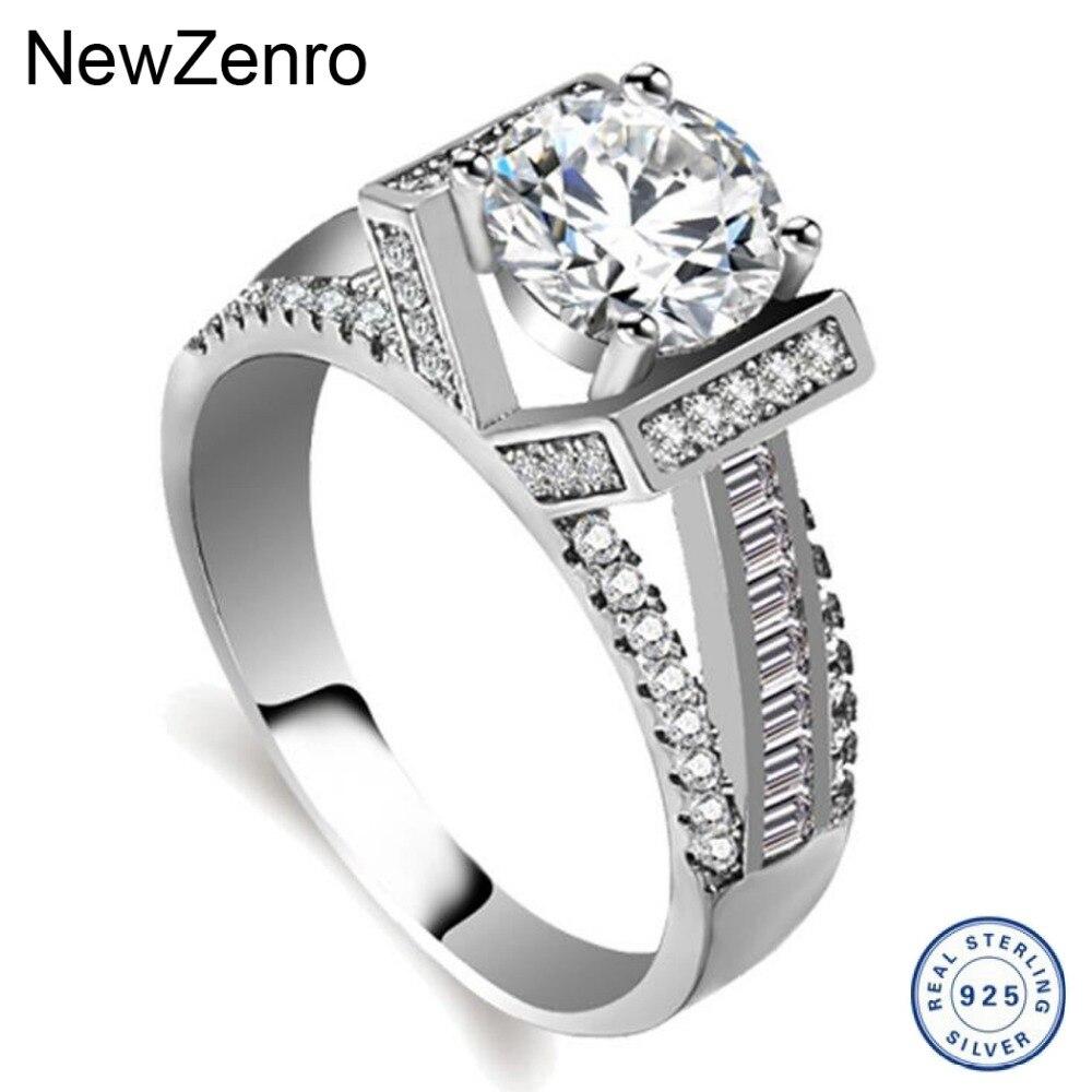 925 Серебряное кольцо для женщин мигающий циркон кольца, свадебные украшения JZ099