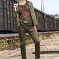Бесплатный Армия Бренд Женщин Сращены Брюки Военная Army Green Cargo Pants Женщины Длинные Брюки Ноги Карандаш Брюки Женщины Бегунов GK-991A