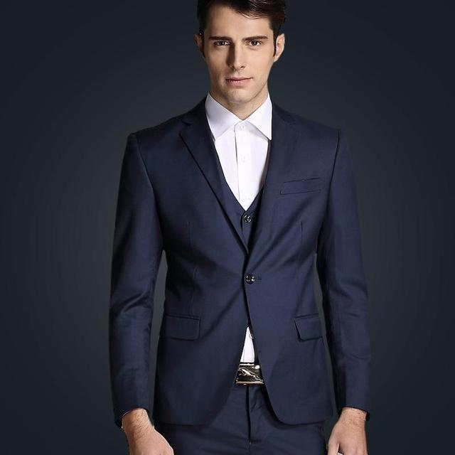 The New 2017 Lapel Dark Blue Suit The Groom Holds The Man\'s ...