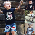 Muchachas de Los bebés de Manga Larga Camisetas Nueva 2017 Muchacho Del Tatuaje T camiseta Niños de la Historieta Camisetas Niños Top Tees Ropa de Los Niños