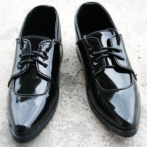 [wamami] 13# Black SD17 DZ 1/3 BJD Dollfie Leather Shoes ~ 9cm цена