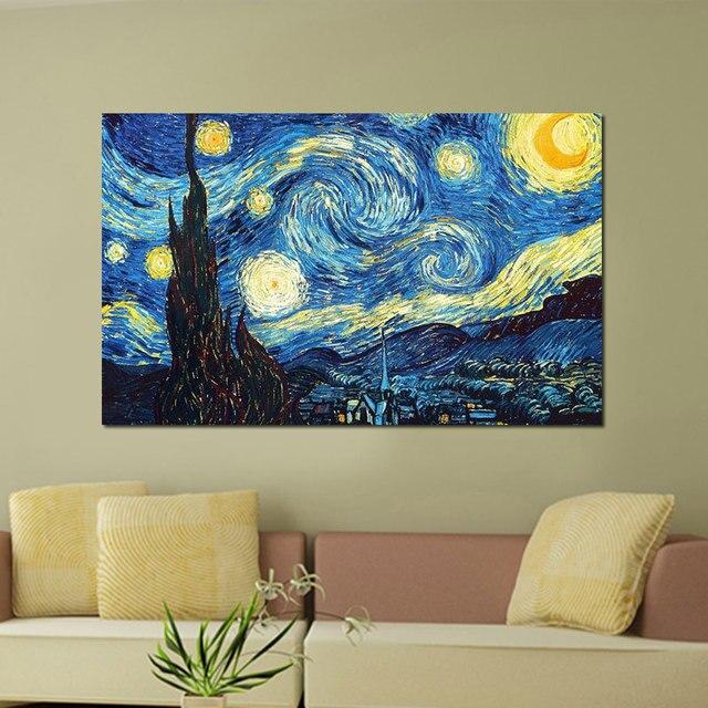 Enmarcado A3 Digital galerias noche estrellada famosa pintura ...