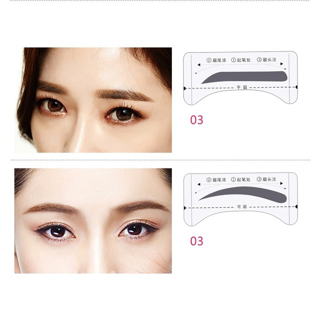 8pair/Set Eyebrow Stencil Shaping Tool Models Eye Brow Template Drawing Card Stencil for Eyes Eyebrow Shaper Beauty Makeup Tools 3